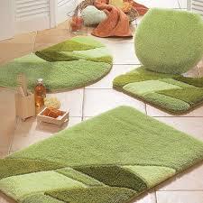 modern bathroom rugs green