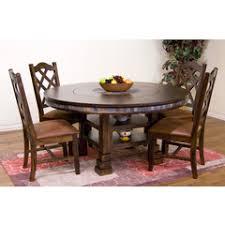 dining table set with lazy susan. santa fe 60\ dining table set with lazy susan