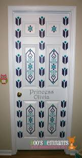 frozen-inspired bedroom door