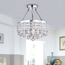 drum light with crystals drum round shade chrome 4 light crystal semi flush mount chandelier ceiling