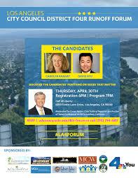 flyers forum la city council district four runoff forum government community