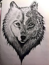 wolf drawing. Beautiful Drawing Wolf Drawing Creative Art Intended