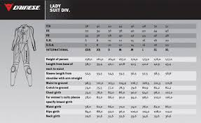 Clean Dainese Jacket Size Chart 2019