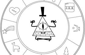 Gravity Falls Coloring Pages Bill Just Colorings