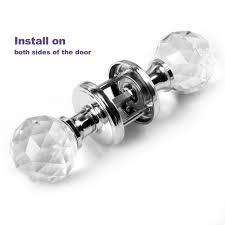 sensational glass door knobs glass mortice door knobs crystal cut handles chrome plated