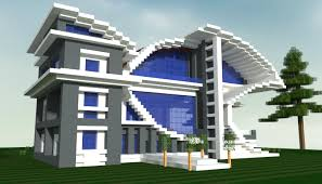 Minecraft building tutorial on how to build a huge modern house. Angry Fish A Futurist Modern House Minecraft Map