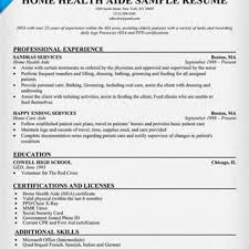 Home Aide Sample Resume How To Write Perfect Home Health Aide Resume Examples Included 18