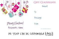 Gift Cards Maker 52 Best Christmas Gift Certificates Images Free Christmas