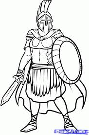 Roman Soldier Coloring Page Coloring Home