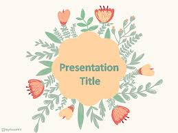 Flower Powerpoint Free Vintage Floral Powerpoint Template Download Free