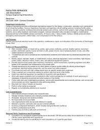 Electrician Job Description Facilities Services Job Description