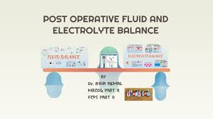 Post Operative Fluid And Electrolyte Balance By Hina Memon
