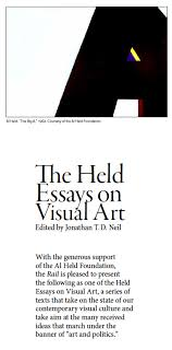 the held essays on visual art the gold standard the brooklyn rail the held essays on visual art the gold standard