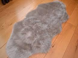 grey faux fur rug shapes