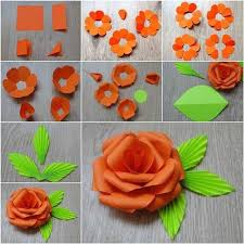 Rose Flower With Paper How To Make Paper Rose Flowers Step By Step Easy For Kids Crafts