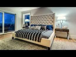 modern master bedroom interior design ideas using wood slat bed ...