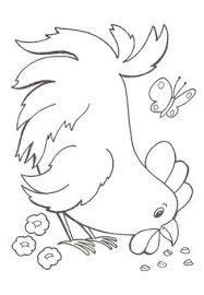 Small Picture Chickens hens and roosters coloring pages Chicken hen and