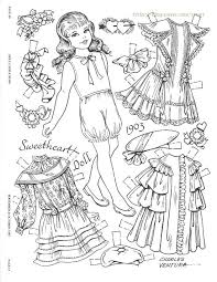 Small Picture The 597 best images about Paper Dolls Coloring Pages on Pinterest