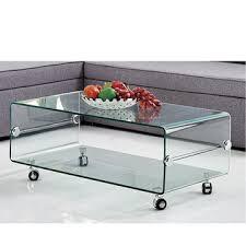 china new design unique small size glass tea table center coffee table
