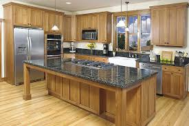 cabinet in kitchen design. Traditional Kitchen Area With Wooden Hickory Style Cabinet Ideas, Black Granite Countertop Design, In Design