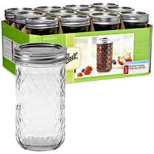 ball quilted crystal jelly jars 4 oz. jars - 12 oz. quilted crystal jelly case of ball 4 oz