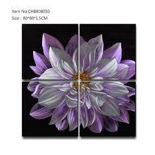 china flower 3d metal purple oil