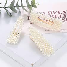 Milacolato 20 Pcs Pearl Hair Clips Artificial Pearl Hair ... - Amazon.com