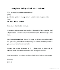 15 30 days notice to landlord template