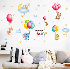 walldecals colourful balloons wall sticker decals stickers kids colorful hot air balloon cloud balloon wall stickers for kids nursery bedroom living room