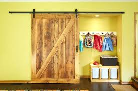 closet door barn image by construction corporation sliding barnwood hardware track system set