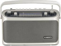 roberts classic 3 band ogue portable radio silver r9928