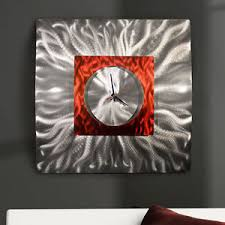 large metal wall art red