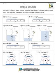 3rd Grade Measurement Worksheetsfree third grade math worksheets reading scales 3c