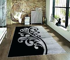 black and white rugs gray rug fl area striped 8x10 furniture friday gr