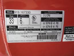 craftsman 33 gallon air compressor. craftsman sears 33. gal 135psi 6hp air compressor single cylinder oil free | ebay 33 gallon