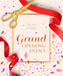 Grand Opening Invitations Grand Opening Event Lettering With Confetti Opening Event Invitation