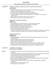 Sample Resume Auto Mechanic Vehicle Technician Resume Samples Velvet Jobs