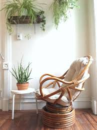 my pas used to have a bunch of these vintage bamboo swivel rocking chair and by quinnvintageandfound