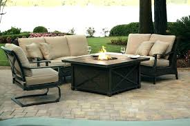 fire table set fire pit patio furniture sets cast aluminum fire pit patio table set fire