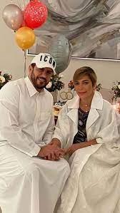 أصالة واللحظات الرومانسية مع زوجها فائق حسن في صورة جديدة بعد الزفاف