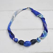 diy jewelry upcycled silk scarf necklace