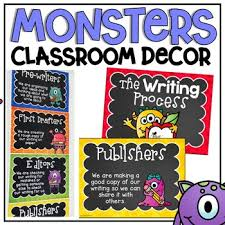 Writing Process Clip Chart Writing Process Clip Chart In A Monsters Classroom Decor Theme