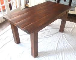 outdoor wood dining table. Image Of: Rustic Solid Wood Dining Table Outdoor