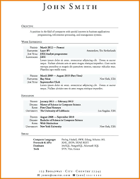 sample resume for ojt computer science students resume format sample with  no work experience resume and