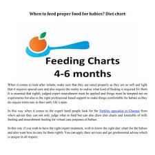 Food Charts In Hospital When To Feed Proper Food For Babies Diet Chart Jan By Bloom