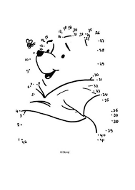 free dot to dot printables. Plain Dot Dot To Dot Winnie The Pooh And Bee  Free Kids Games CONNECT To Printables