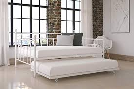 full size daybed with twin trundle. Fine Size White Full Size Metal Daybed And Twin Trundle Bedding Made From Metal  Living To With Trundle