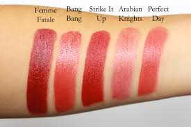 ilia beauty red lipstick swatches