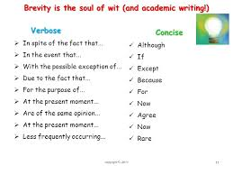 essential student academic writing skills ppt 11 brevity is the soul of wit