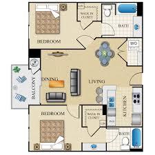 2 bed 2 bath dual master 946 sq ft
